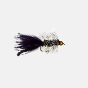 Wooly Bugger Grizzly Black